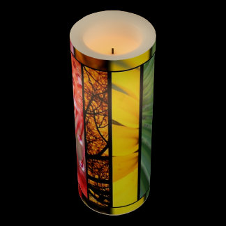 Nature Rainbow LGBT Pride Symbol Custom Flameless Candle