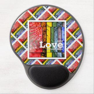 Nature Rainbow LGBT Pride Symbol Love Defeats Hate Gel Mouse Pad