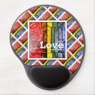 Nature Rainbow LGBT Pride Symbol Love Defeats Hate Gel Mouse Pad