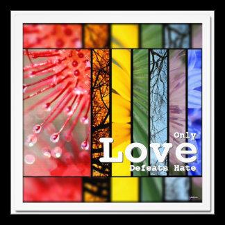 Nature Rainbow LGBT Pride Symbol Love Defeats Hate Photo Print