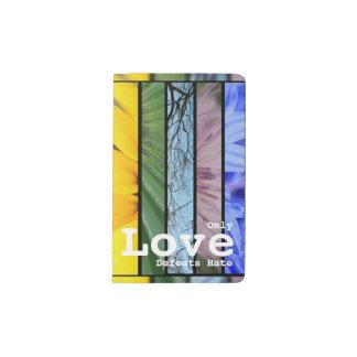 Nature Rainbow LGBT Pride Symbol Love Defeats Hate Pocket Moleskine Notebook