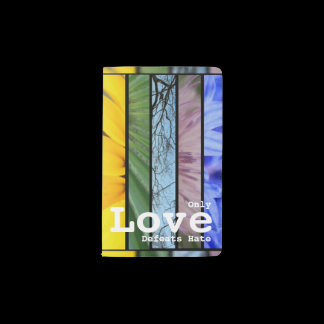 Nature Rainbow LGBT Pride Symbol Love Defeats Hate Pocket Moleskine Notebook