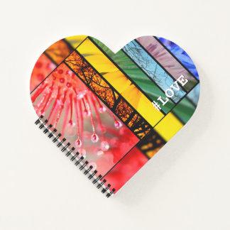 Nature Rainbow LGBT Pride Symbol Love Hashtag Notebook