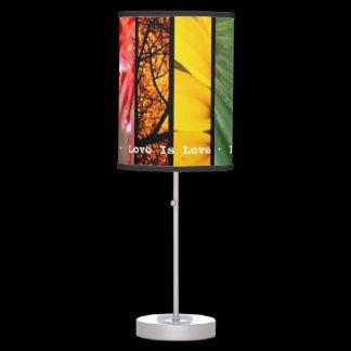 Nature Rainbow LGBT Pride Symbol Love Is Love Desk Lamp