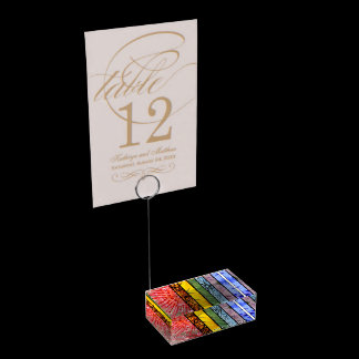 Nature Rainbow LGBT Symbol Love is Love Table Number Holder