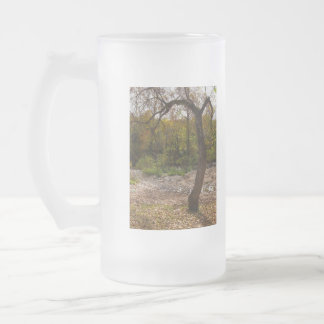 Nature Reaching Out Frosted Glass Beer Mug