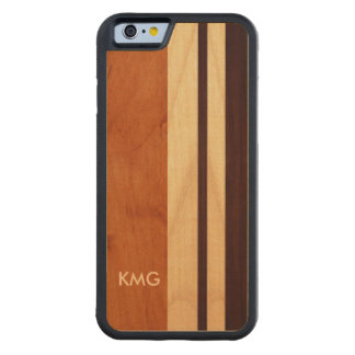 Nature Real Wood Made Monogrammed Monograms Carved Maple iPhone 6 Bumper Case