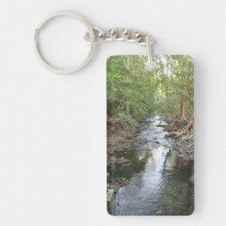 Nature rectangular Key Ring