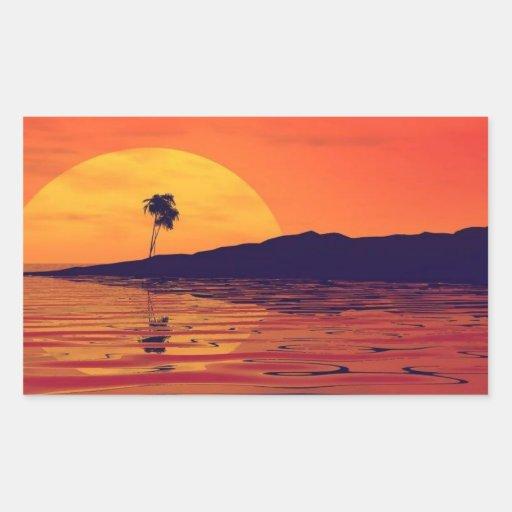 nature_red1 rectangular sticker