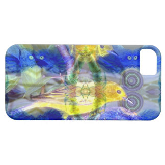 Nature Reflections I - Gold & Blue Birds iPhone 5 Cover
