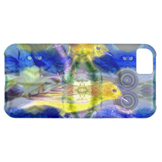 Nature Reflections I - Gold & Blue Birds Cover For iPhone 5C