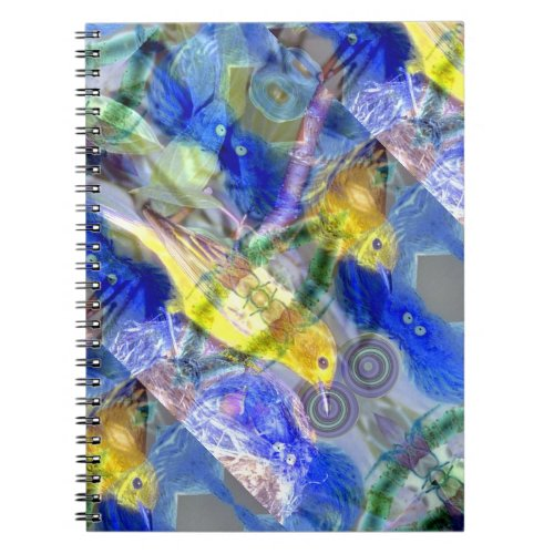 Nature Reflections I - Gold &amp&#x3B; Blue Birds Notebook