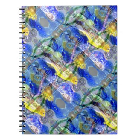 Nature Reflections I - Gold & Blue Birds Notebook