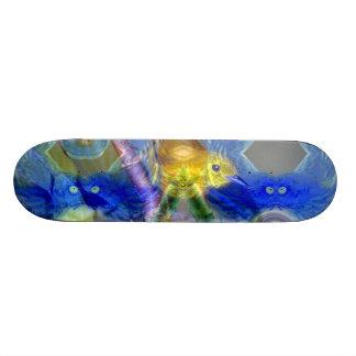 Nature Reflections I - Gold & Blue Birds Skate Deck