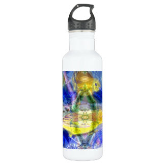 Nature Reflections I - Gold & Blue Birds Water Bottle
