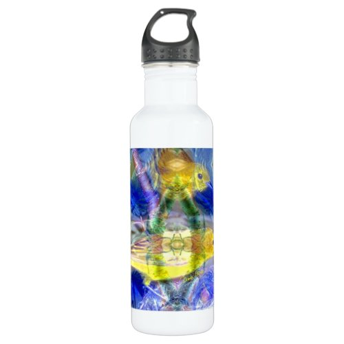 Nature Reflections I - Gold &amp&#x3B; Blue Birds Water Bottle