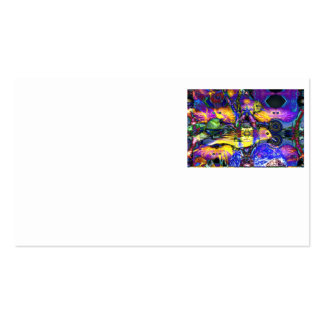 Nature Reflections II - Violet & Gold Birds Business Card Template