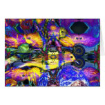 Nature Reflections II - Violet & Gold Birds Greeting Card