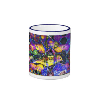 Nature Reflections II - Violet & Gold Birds Coffee Mugs