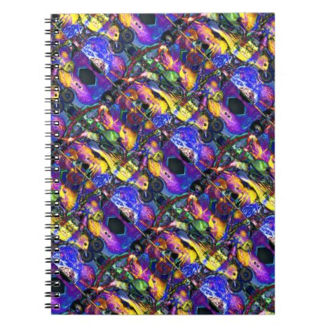 Nature Reflections II - Violet & Gold Birds Notebook