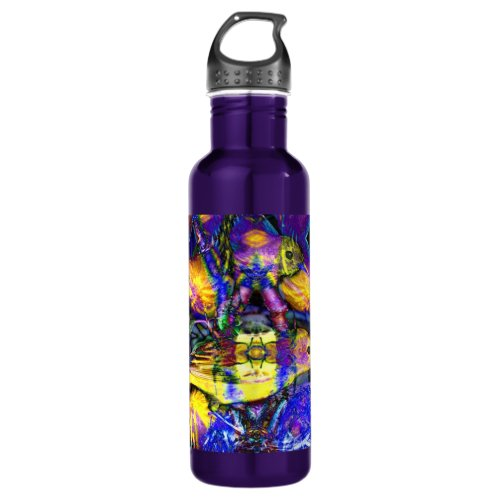 Nature Reflections II - Violet &amp&#x3B; Gold Birds Stainless Steel Water Bottle
