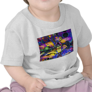 Nature Reflections II - Violet & Gold Birds T-shirts