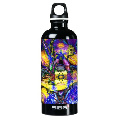 Nature Reflections II - Violet &amp&#x3B; Gold Birds Water Bottle