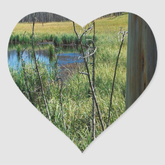 Nature Reserve Wilderness Water Hole Heart Sticker