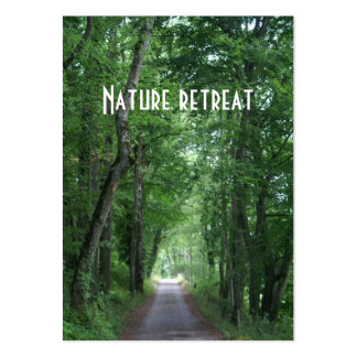 nature retreat large business cards (Pack of 100)