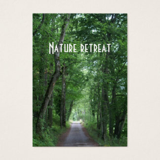 nature retreat business card
