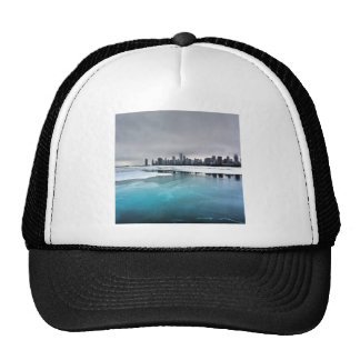 Nature River Blue Ice City Trucker Hat