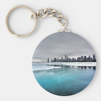 Nature River Blue Ice City Keychains