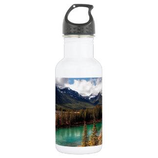 Nature River Blue Lagoon Mountains 18oz Water Bottle