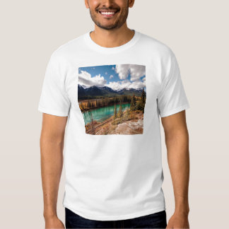 Nature River Blue Lagoon Mountains T Shirt