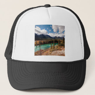 Nature River Blue Lagoon Mountains Trucker Hat