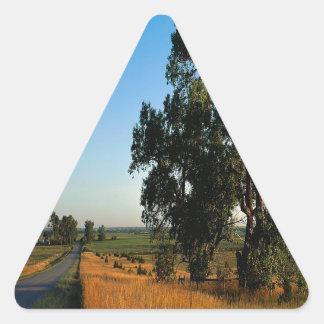 Nature Road Farmers County Triangle Sticker