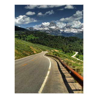 Nature Road Mountian Valley Letterhead Template