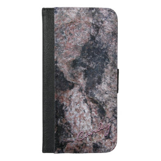 Nature Rock Texture Pinkish iPhone 6/6s Plus Wallet Case