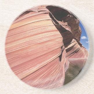 Nature Rocks Red Mass Loch Drink Coaster