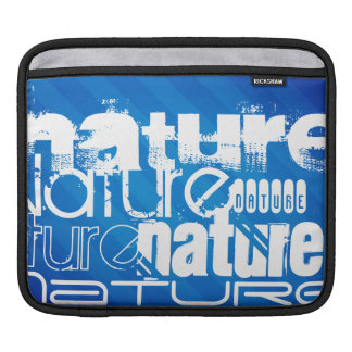 Nature; Royal Blue Stripes Sleeves For iPads