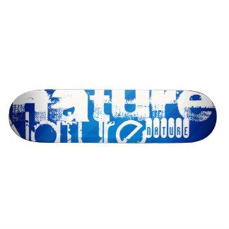 Nature; Royal Blue Stripes Skateboard Deck
