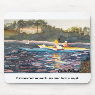 Nature s best moments are seen from a kayak mousepad