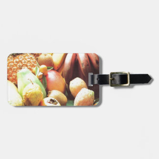 Nature s bounty fruit and vegetables tag for luggage