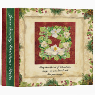 Nature s Christmas Magnolia Wreath Scrapbook Photo 3 Ring Binder