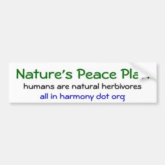 Nature s Peace Plan Bumper Sticker