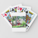 Nature scene bicycle card deck