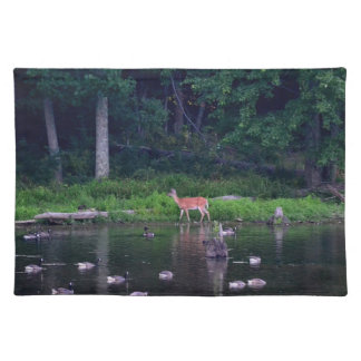 Nature Scene/ Deer at Lake - Place Mat
