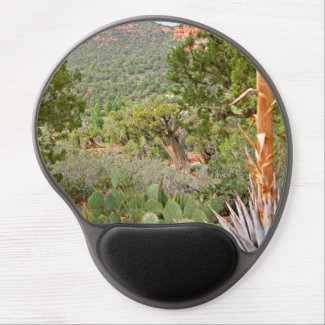Nature scene gel mouse pad, desert, writers gift gel mouse pad