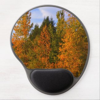 Nature scene gel mouse pad, fall mountains, pretty gel mouse pad