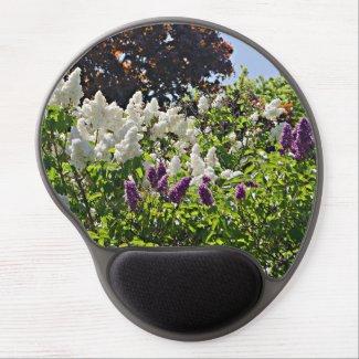 Nature scene gel mouse pad, lilacs, floral gel mouse pad